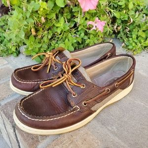 Sperry Top-Slider Leather boat women's shoes